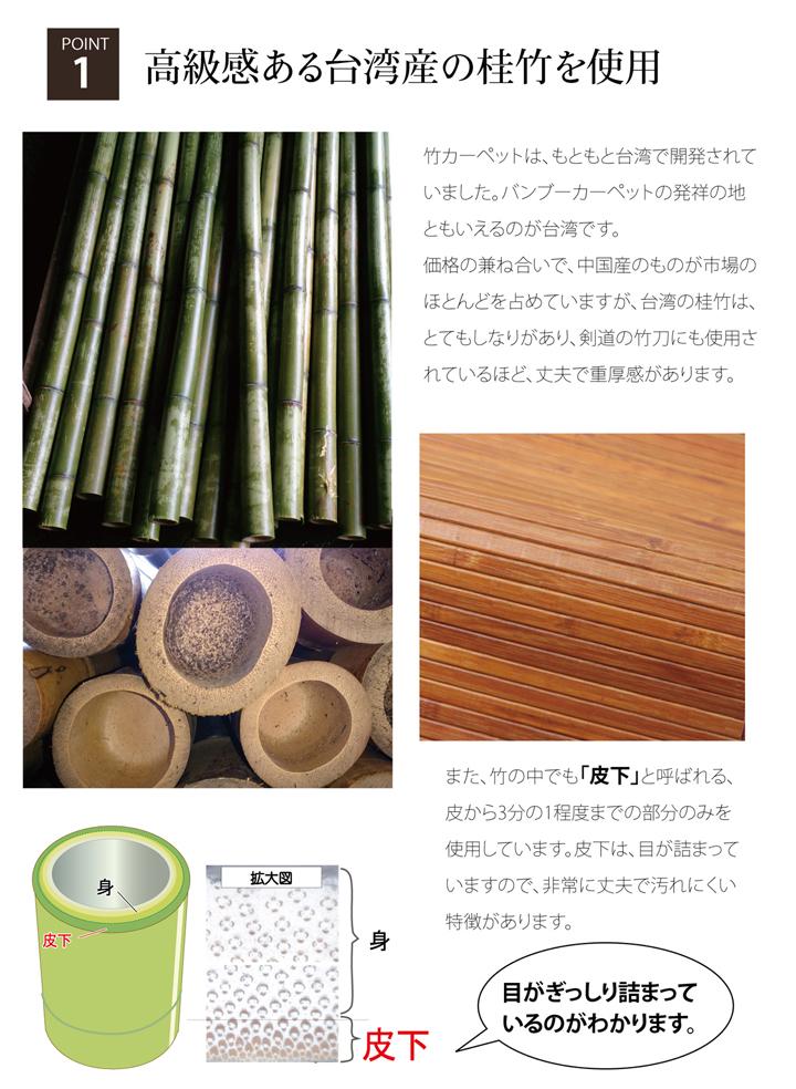 竹ラグカーペット「竹王」