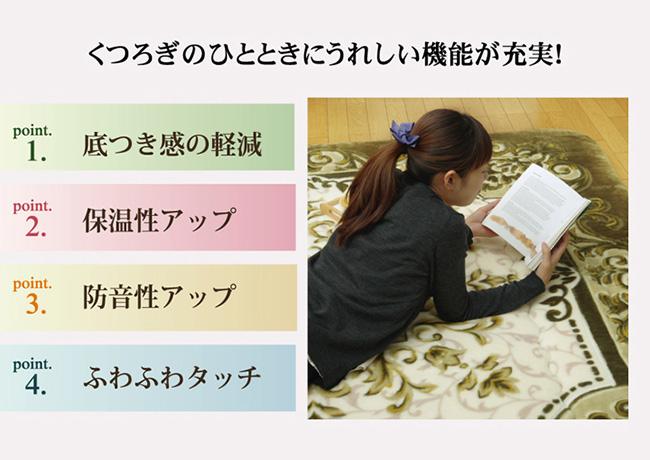 ふっくら極厚敷きこたつ敷布団  シャルマンF敷 2カラー/5サイズ