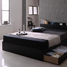 ライト・コンセント付き収納ベッド