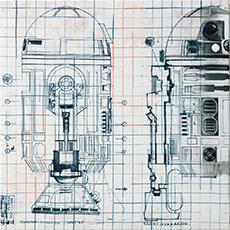 R2-D2 ファブリックパネル