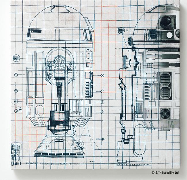 ファブリックパネル R2-D2