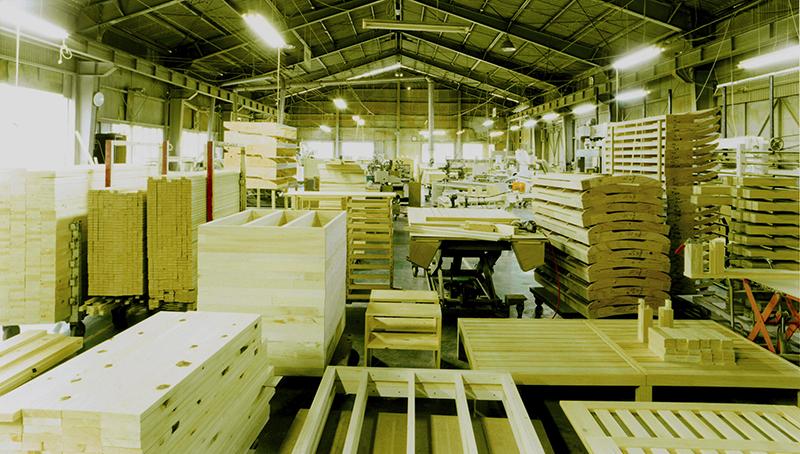 国産すのこベッド工場風景