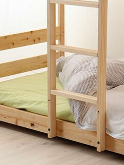 国産二段ベッド、はしご