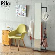Rita(リタ) 北欧風キャスター付きハンガーミラー