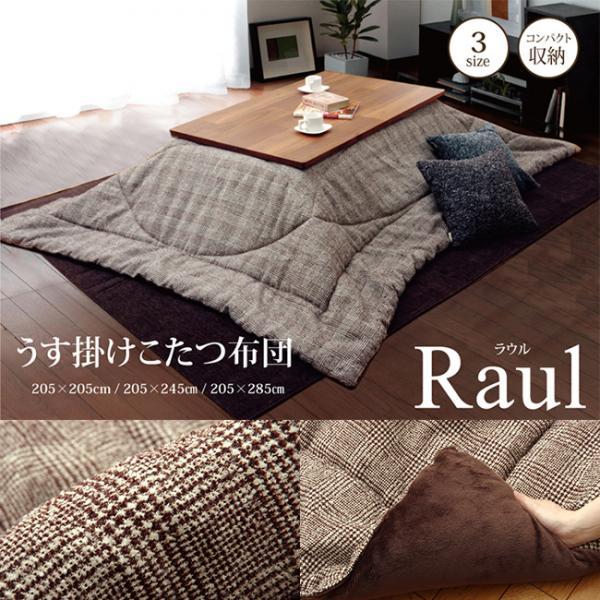 シンプル薄掛けこたつ布団 ラウル 3サイズ